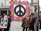 Kingston Peace Council group with banner